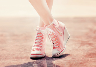shoes converse pink high heels aqua blue pastel pink wedges converse high tops converse wedges pink high heels hitops
