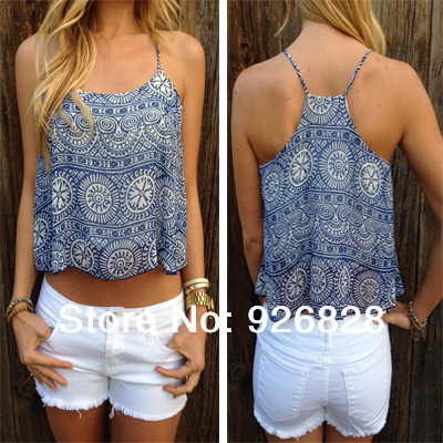Europe Style Batik Print Women Tanks Camis Women 2014 New Summer Sexy Fashion Tops Crop Girls Novelty Hot Selling Free Dropship-in Camis from Apparel & Accessories on Aliexpress.com