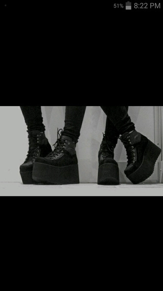 shoes grunge shoes grunge black shoes platform shoes platform sneakers platform boots goth goth shoes