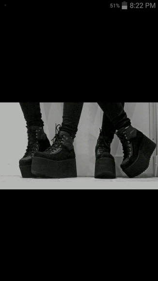 shoes platform shoes grunge black shoes grunge shoes platform sneakers platform boots goth goth shoes