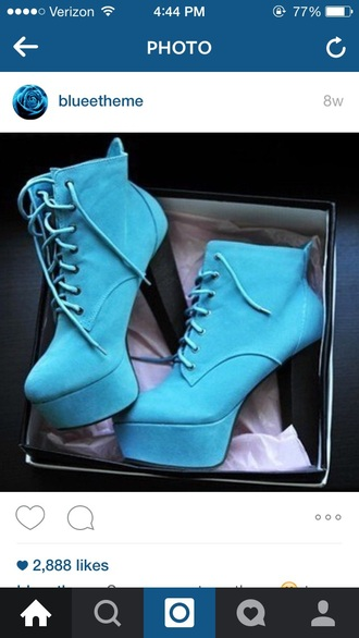 shoes blue heels