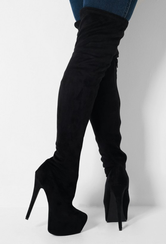 Platform Thigh High Boots - Cr Boot