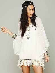Gypsy Junkies Mimi Tunic White Eyelet Embroidered Free Spirit Boho People | eBay