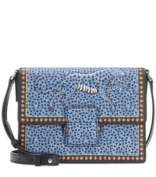 ETRO bag shoulder bag leather blue