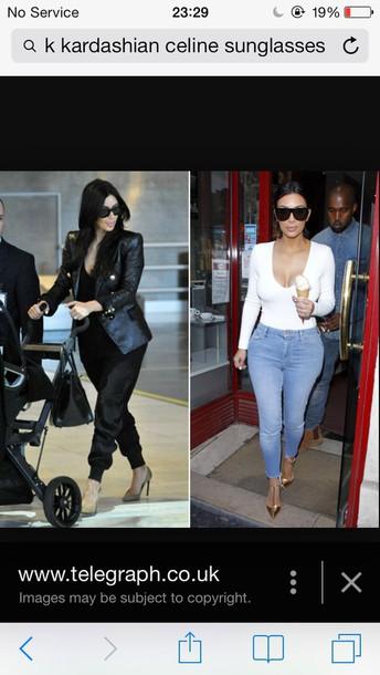 sunglasses celine sunglasses kim kardashian