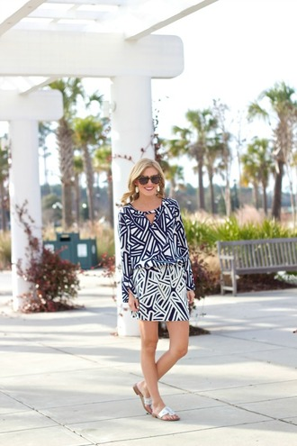 life with emily blogger optical black and white black and white dress