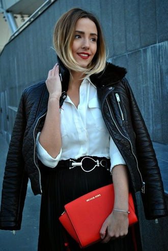 let's talk about fashion ! blogger leather jacket pandora