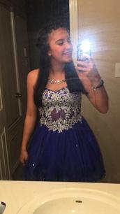 dress,blonde nites,homecoming dress,blue