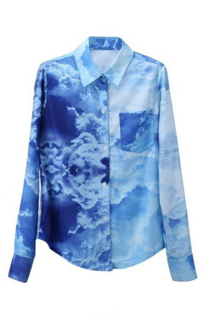 Cloud print blouse