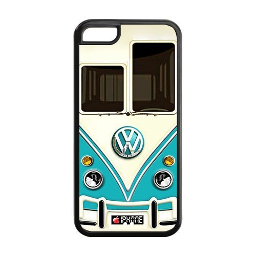 For Iphone 5c Case, Teal VW Minibus for Iphone 5c Cover Hard Cases-in Phone Bags & Cases from Electronics on Aliexpress.com