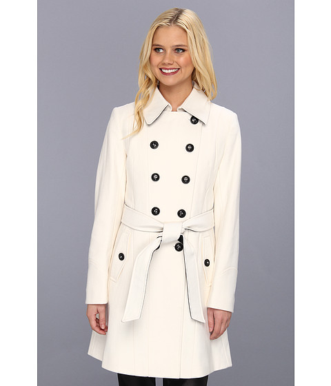 DKNY Color Block Trench 14200M-Y3 Winter White - Zappos.com Free Shipping BOTH Ways