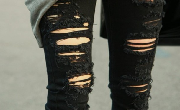 Black Ripped Jeans
