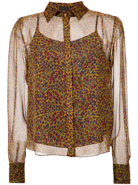 Nk - silk shirt - women - Silk - 42, Silk