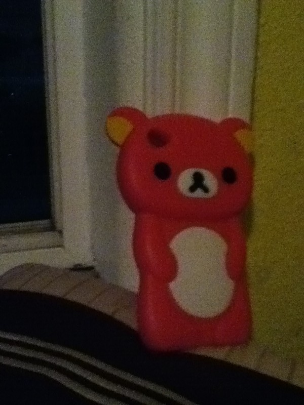 jewels case bear pink cute