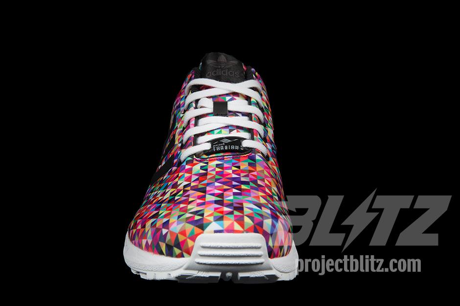Adidas ZX Flux Mult Color Prism Torsion Geometric Trainers Size 4 5 M19845   eBay