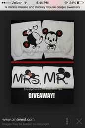 couple,sweater,cute,matching couples,his and her shirts,lovers + friends,quote on it,couple sweaters,mickey mouse