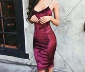 dress,red velvet dress,velvet dress,burgundy,midi dress,velvet,red dress,red,bodycon dress,tumblr,tumblr girl,girl,fashion,brunette,tan,summer,pink,pink dress,shimmer,slim,slim dress,kneelength dress,beautiful,elegant dress,formal dress