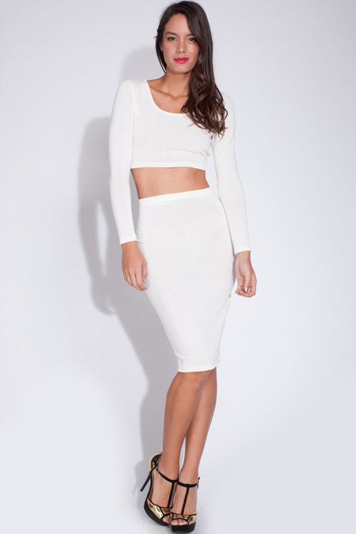Simply sweet white skirt set · trendyish · online store powered by storenvy