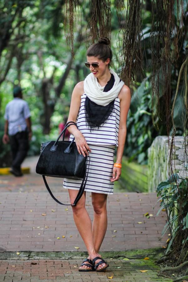 thank fifi bag scarf dress