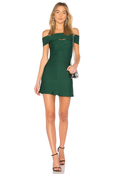 LOLITTA dress off the shoulder green
