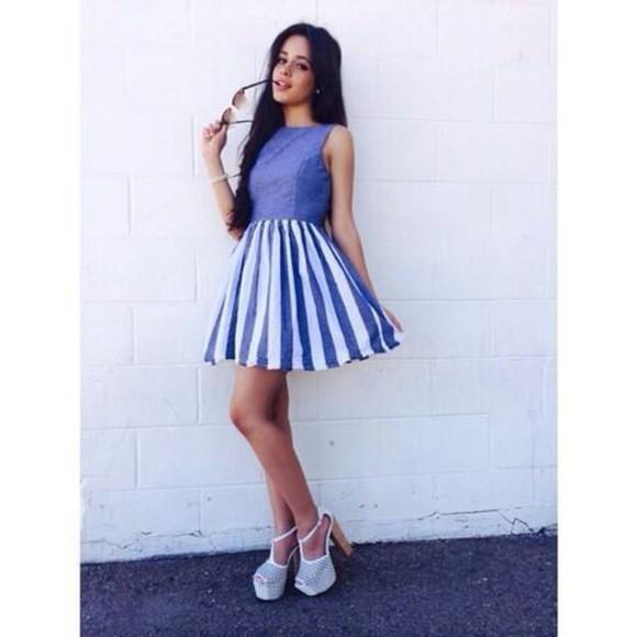 camila cabello blue dress