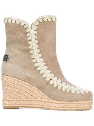 women leather cotton grey shoes