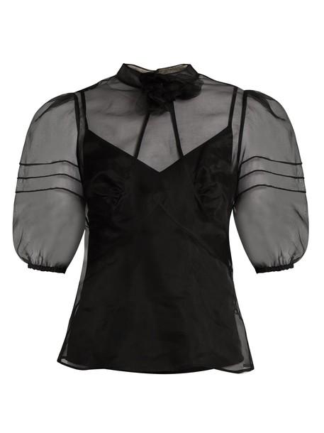 REDValentino top high silk black