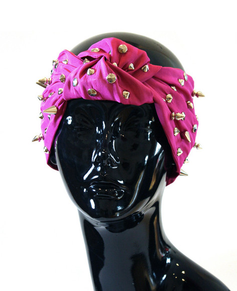 spikes hair accessories fuchsia fuchsia turban turban studded studded turban turbans turband