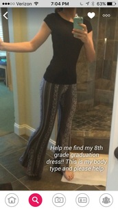 pants,aztec,flowy pants,cute,summer,black high waisted pants,black,white,black and white