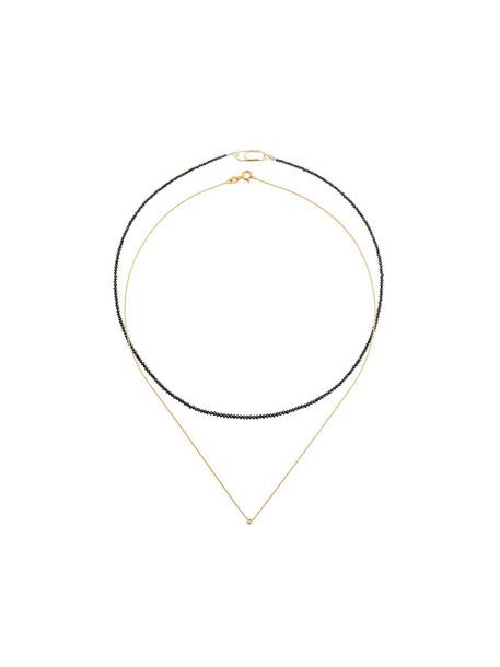 Uzerai Edits women necklace diamond necklace gold black yellow jewels