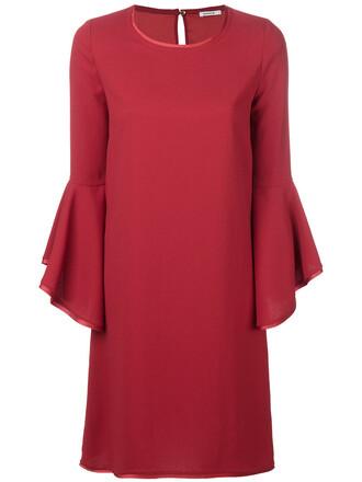 dress shift dress women red