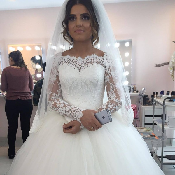 Dress: wedding dress, princess wedding dresses, long sleeve wedding ...