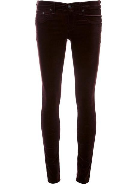 Rag & Bone /Jean jeans skinny jeans velvet purple pink
