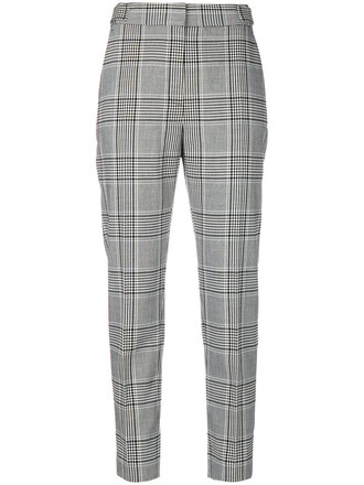 women spandex plaid black wool pants