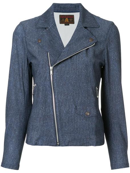 jacket biker jacket women classic blue