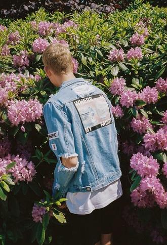jacket whereismymind denim jacket oversized tumblr tumblr outfit cool grunge