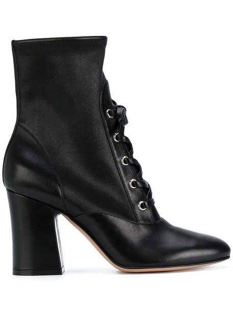 Gianvito Rossi women leather black shoes