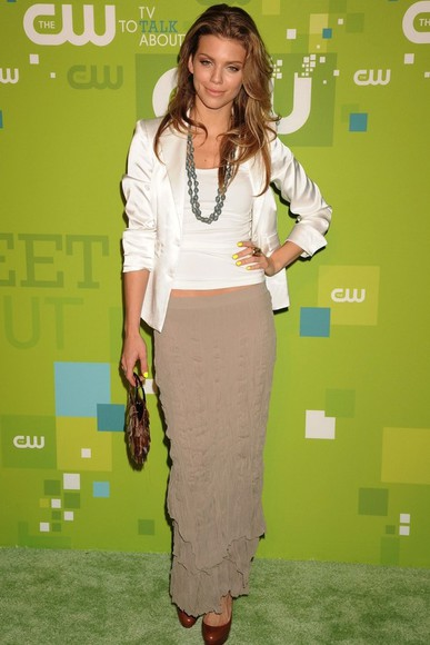 annalynne mccord maxi brown skirt