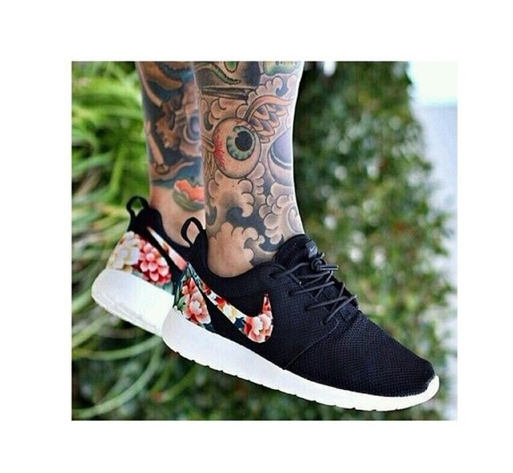 floral shoes rosherun