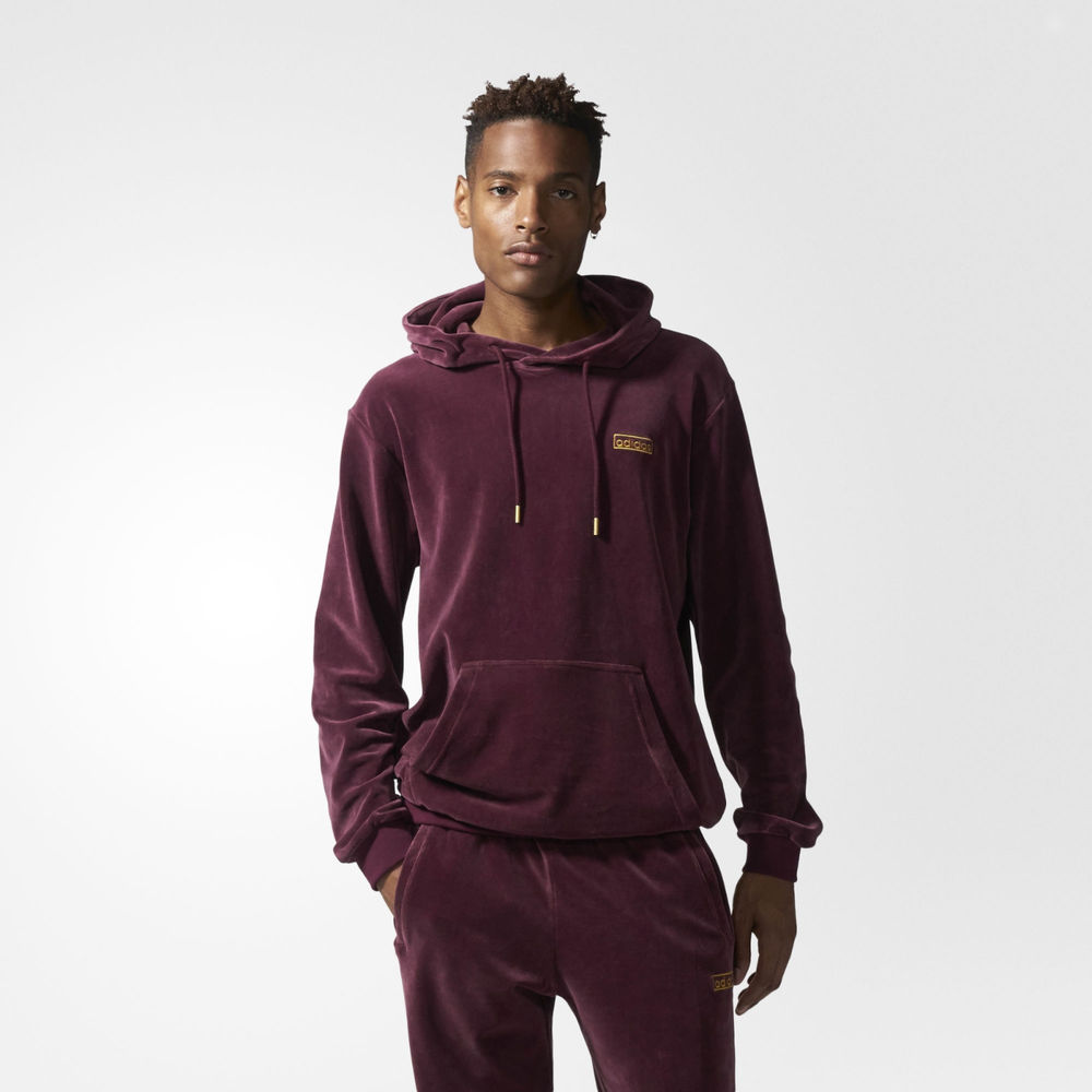 adidas velour jumper