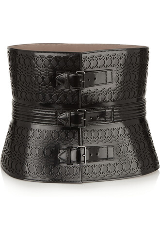belt waist belt leather black