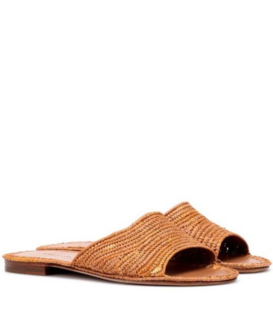 Carrie Forbes Raffia sandals in beige / beige