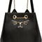 Charlotte olympia - black leather feline backpack