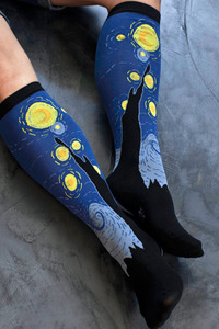 Starry Night Knee High - Sock Dreams - Free Shipping