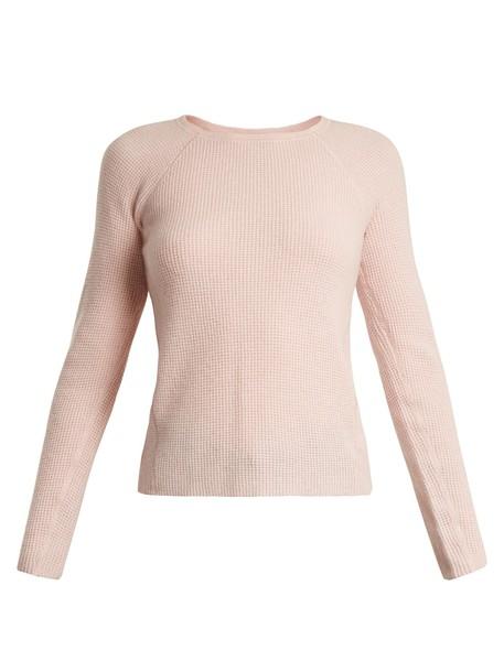 Elizabeth and James sweater knit light pink light pink