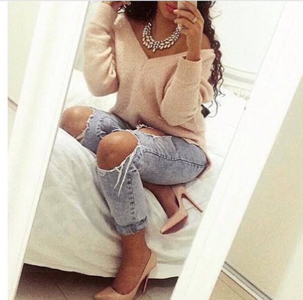 Plus size white jean pants