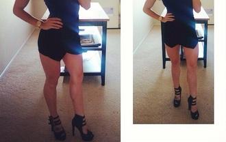black pumps high heels love strappy heels