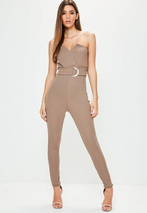 0e33583ecd8a9 Zimmermann Henna Frippery Playsuit in taupe - Wheretoget