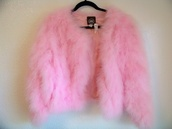 fuzzy cardigan,pink jacket,fluffy,pink,girly,scream queens,jacket,faux fur,h&m,pink faux fur jacket,pink sweater,pink fluffy jacket,cute,coat,furry jacket,faux fur jacket
