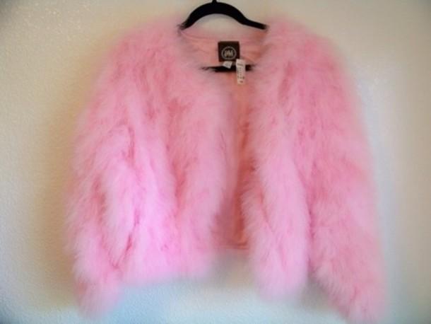 Fuzzy Cardigan Pink Jacket Fluffy Pink Girly Scream